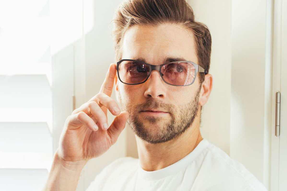 Man Wearing FL-41 Maddi Glasses