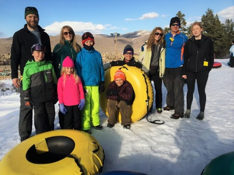 Axon Optics Team Sledding at Gorgoza Park