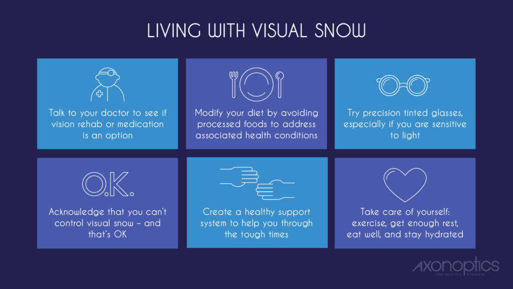 Living With Visual Snow Infographic