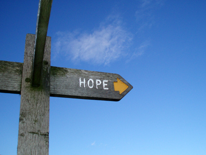 Sign that says hope for hemiplegic migraine sufferers
