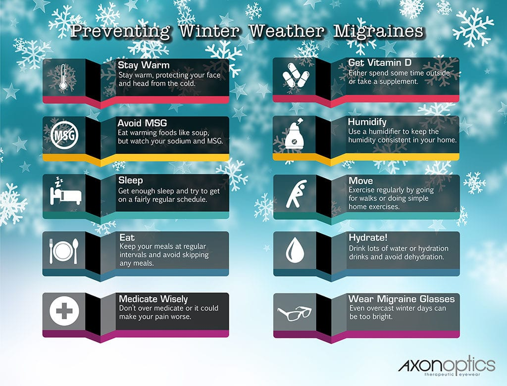 Ways to prevent cold weather migraines