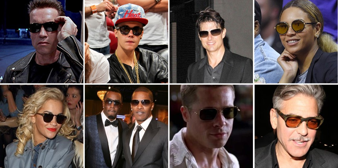 Celebrities wearing sunglasses inside or at night