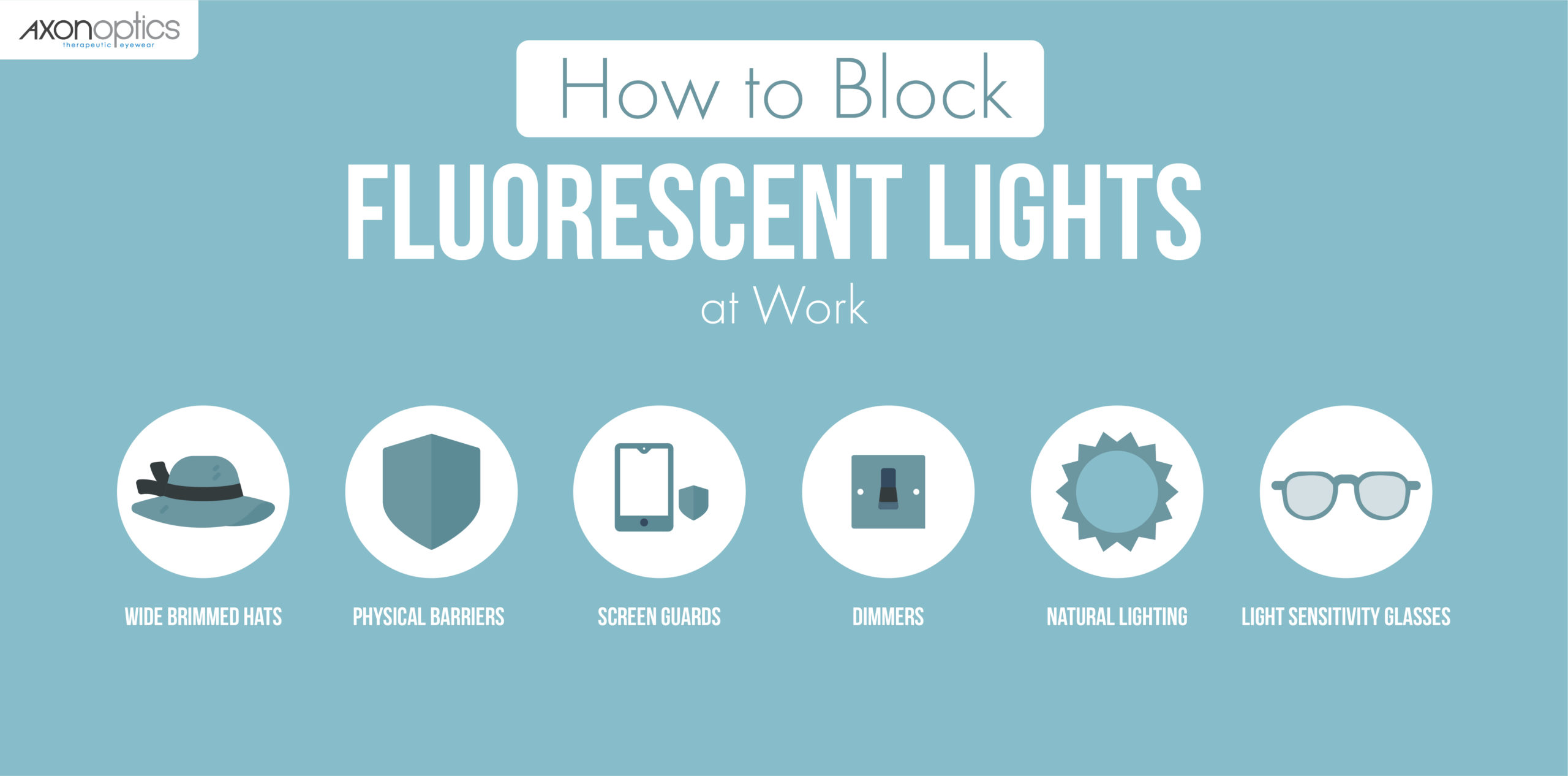 How to block fluorescent lights at work