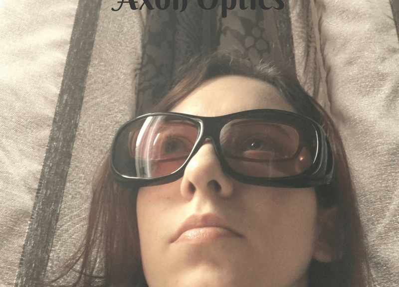Laura wearing Axon Optics Cover RX