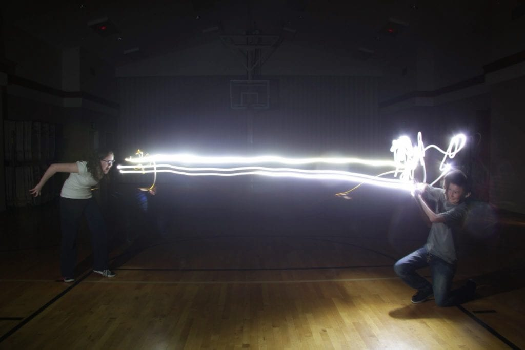 Laser Vision Between Two People