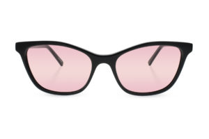 Glasses with a rose-colored FL-41 tint